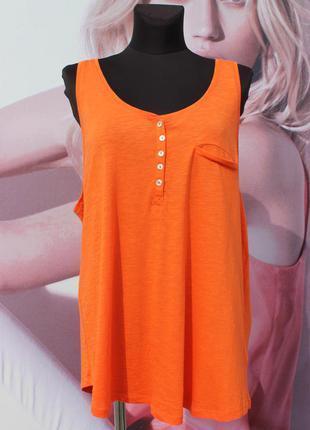 Оранжевая майка h&m