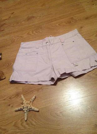 Стильные шорты с завязками под топ майка бренд   kickers / m