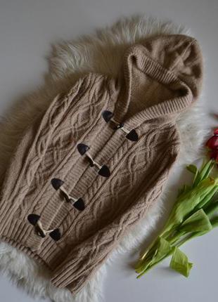 Теплй, шерстяной, мягкий кардиган плюшевый с капюшоном (как zara. mango. bershka. pull&bear)