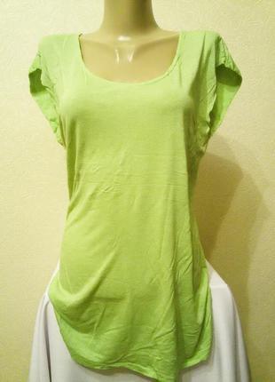 Удлиненная футболка нежно-зеленого цвета mossimo