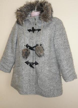 Короткое шерстяное весеннее пальто от be beau 12