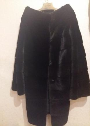Шикарная шуба норковая blackglama новая поперечка