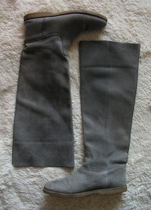 Кожаные высокие сапоги, ботфорты, р. 39,5-40