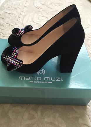 Замшевые туфельки mario muzi
