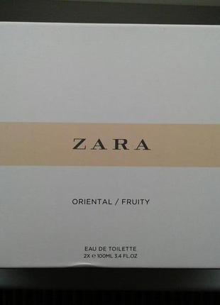 Набор zara oriental 100 ml + zara fruity 100 ml