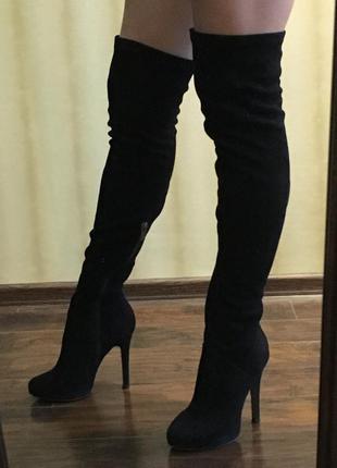 Шикарные ботфорты-чулки от bershka, 36 размер