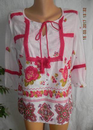 Красивая блуза в стиле  вышиванка