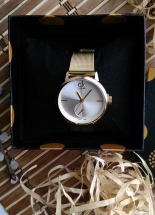Часы № 17 ck белый циферблат