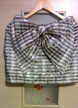 Короткая юбка  с бантом topshop распродажа см другие вещи - много интересного