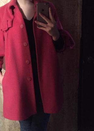 Розовое пальто осень / весна
