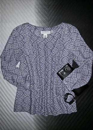Стильная блуза с рисунком из вискозы