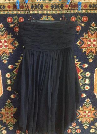 Платье чёрное вечернее шелковое