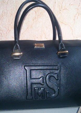 Сумка/черная сумка/кожаная сумка