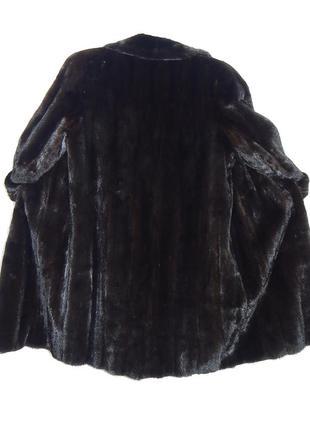 Черная норковая шуба, как норка blackglama р.50 №02