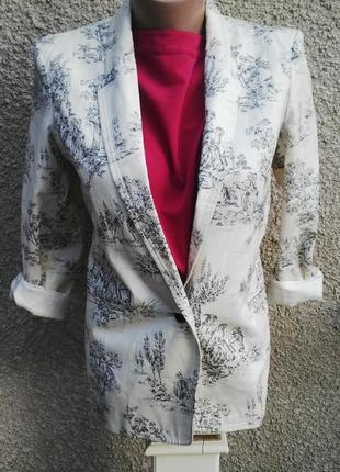 Красивый жакет ,пиджак на подкладке от asos,хлопок 100%