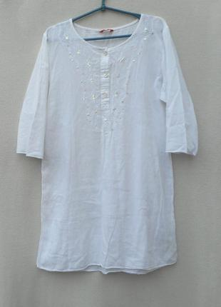 Летнее  хлопковое платье парео c рукавом 3/4  misswan