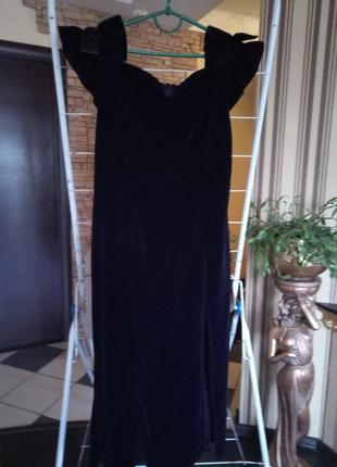Скидки 50 %!!!велюровое вечернее платье 48-50р