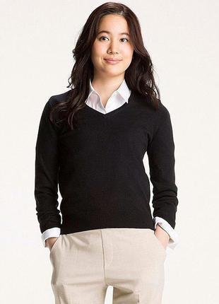Кашемировый шоколадный свитер пуловер *uniqlo* 44-46р