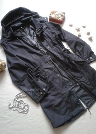 Черная куртка парка,от zara,размер 12 б/у