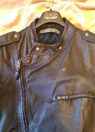 Zara куртка! натуральная кожа!