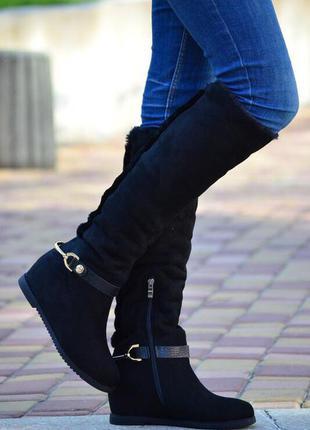 Сапоги/сапоги женские/сапоги низкий ход/сапоги низкий каблук/сапоги зима/сапоги каблук/ботфорты