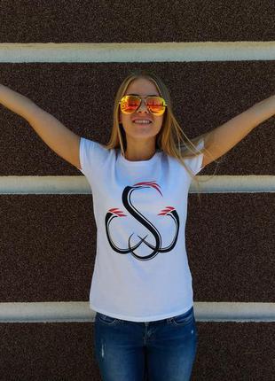 Белая тематическая футболка sw 100% хлопок размер s