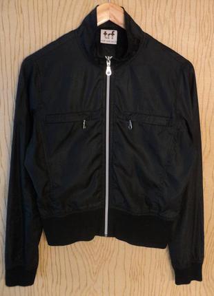 Куртка zara trf ветровка бомбер черная черный на молнии спортивная летняя весенняя
