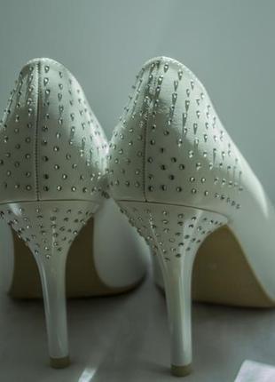 Белые свадебные туфли 36р
