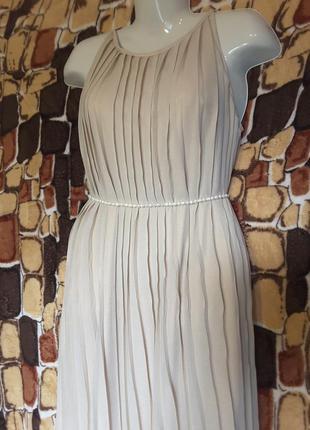 Роскошное платье из изумительного золотистого шифона в пол