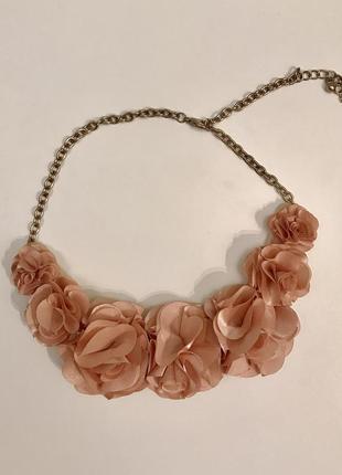 Колье ожерелье чокер цветы украшение h&m новое