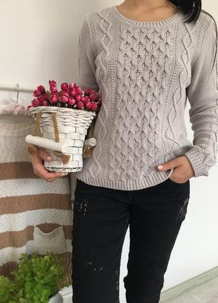 (бесплатная доставка )свитер с косами