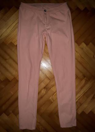 Пудрово-розовые брюки скинни от ichi! p.-s