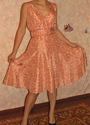 Платье next 100% шелк