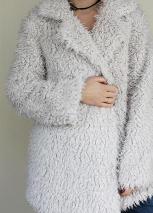 Плюшевая шубка / пальто травка