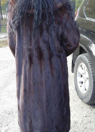 Продам шикарную норковую шубу. произв греция. шуба в пол на рост 168 и выше цельная  состояние идеал