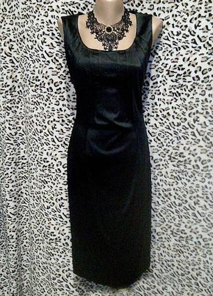 Обтягивающее атласное платье-футляр без рукавов на молнии на выпускной вечернее