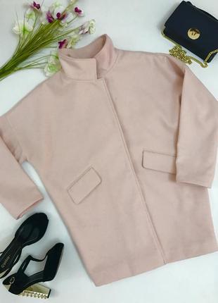 Актуальное нежно розовое пальто  бойфренд .