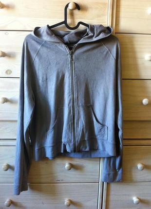 Замшевая мягенькая серая куртка кенгуру толстовка 10-12 под замш
