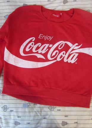 Кроп толстовка coca cola