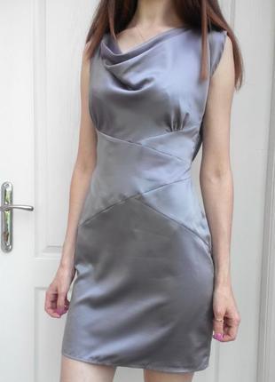 Серебристое платье miss selfridge