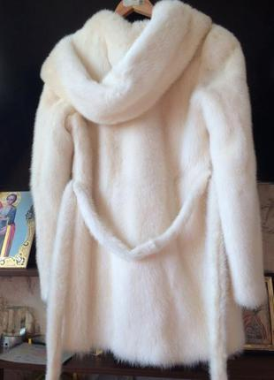 Норковая шуба с капюшоном, kopenhagen fur р.s