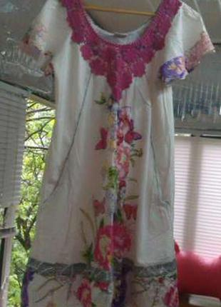 Платье natural indiano с цветочным принтом