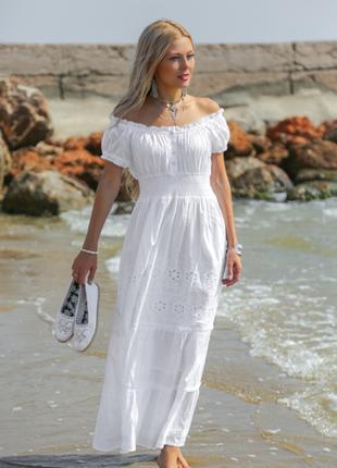 Платье летнее белое indiano серия fresh cotton в наличии