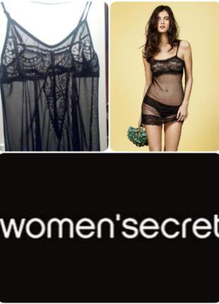 Красивый, прозрачный пенюар/ комбинация от women's secret