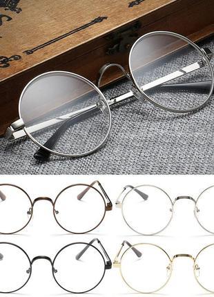 Стильные имиджевые круглые очки