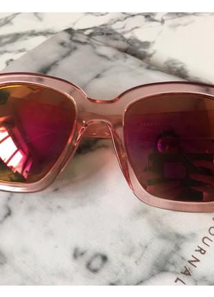 Трендовые очки reserved с розовой оправой