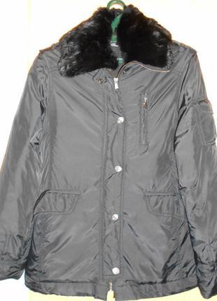 Куртка пуховик с меховым воротником niiqvalified р.m весна/осень/зима