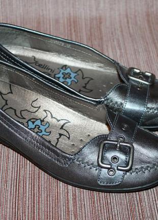 Комфортные,легкие туфли-балетки натуральная кожа 38 размер