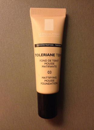 Матирующий тональный крем-мусс la roche posay toleriane teint mattifying mousse тон 03 уценка!