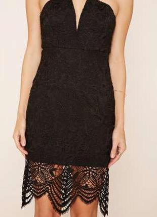Новое чёрное вечернее платье forever 21